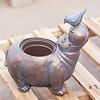 Copper Hippo Flower Pot