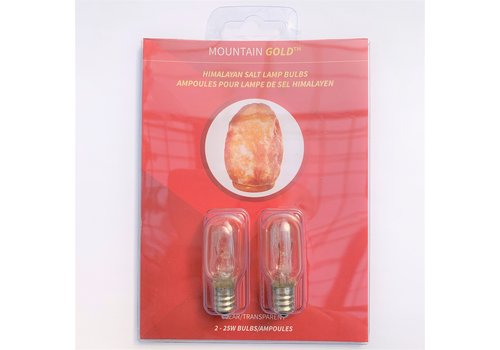 Salt Lamp Bulb Replacement Pack 25W Clear