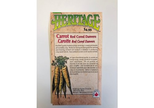 Heritage Carrot Red Cored Danvers Seeds