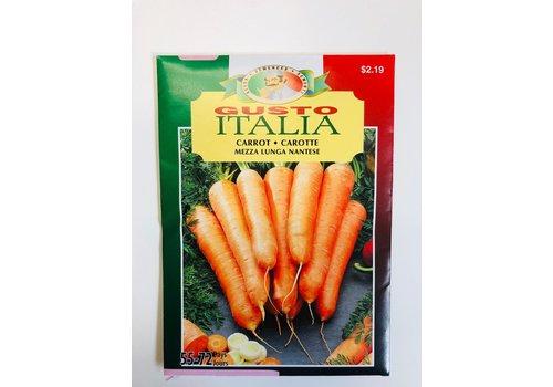 Gusto Italia Carrot Mezza Lunga Nantese Seeds