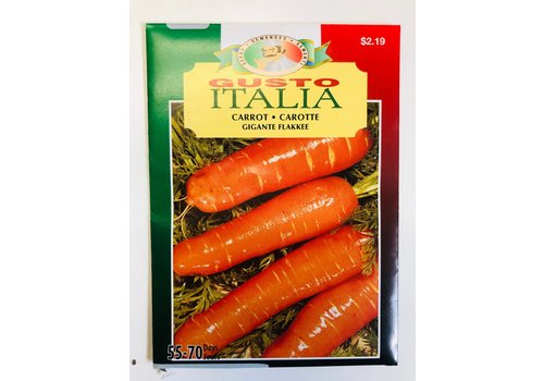 Gusto Italia Carrot Gigante Flakkee Seeds