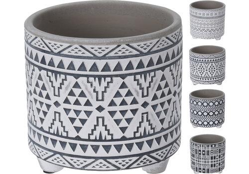 Koopman International Pattern Flower Pot Ceramic