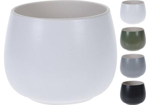 "Koopman International Solid Colour Pot Small 4""x3"""