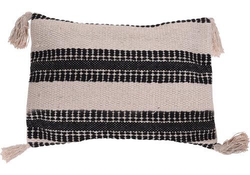 Koopman International Black Stripe Cushion 35x50cm