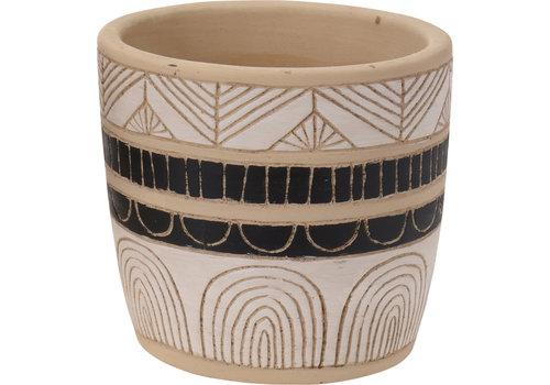 "Koopman International Flower Pot Ceramic 3.5"""