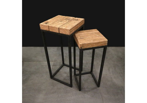 Koopman International Teak End Table Set Of 2