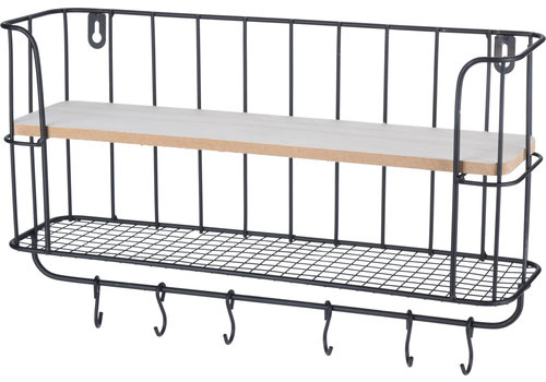Koopman International Large Black Metal Display Rack