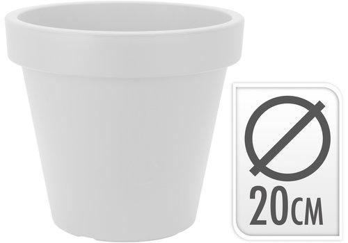 Koopman International Flower Pot Round White