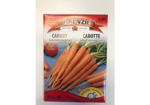 McKenzie Carrot Tendersweet Long Seeds