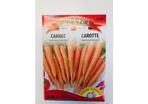 McKenzie Carrot Tenderlong Imperator Seeds