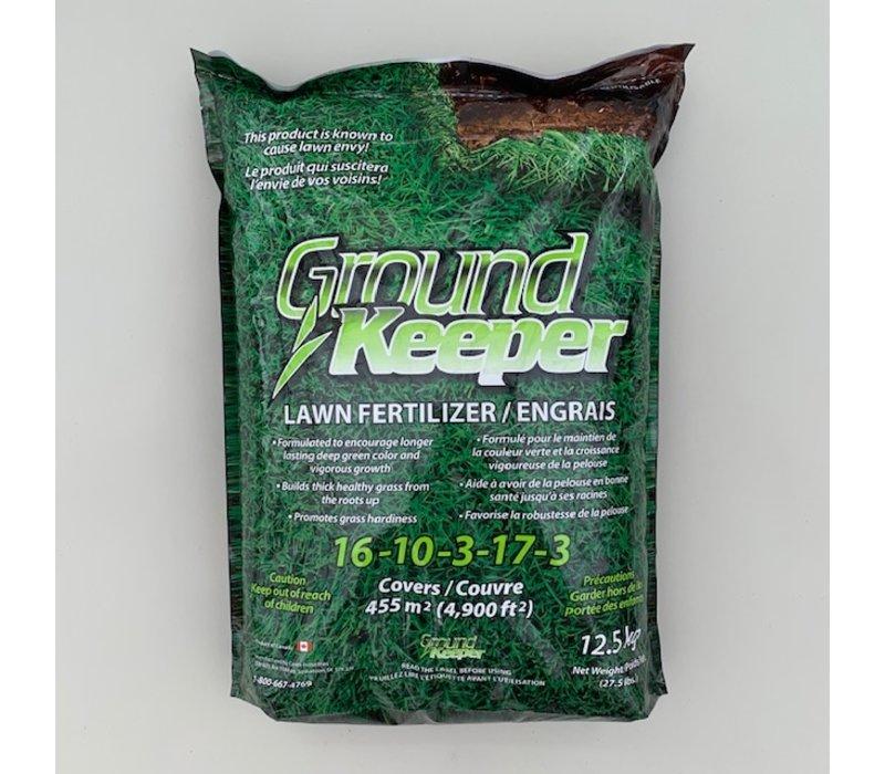 Ground Keeper Lawn Fertilizer 16-10-3-17-3 12.5kg