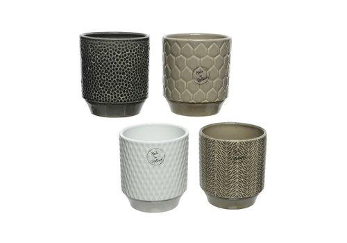 Kaemingk Textured Stoneware Planter