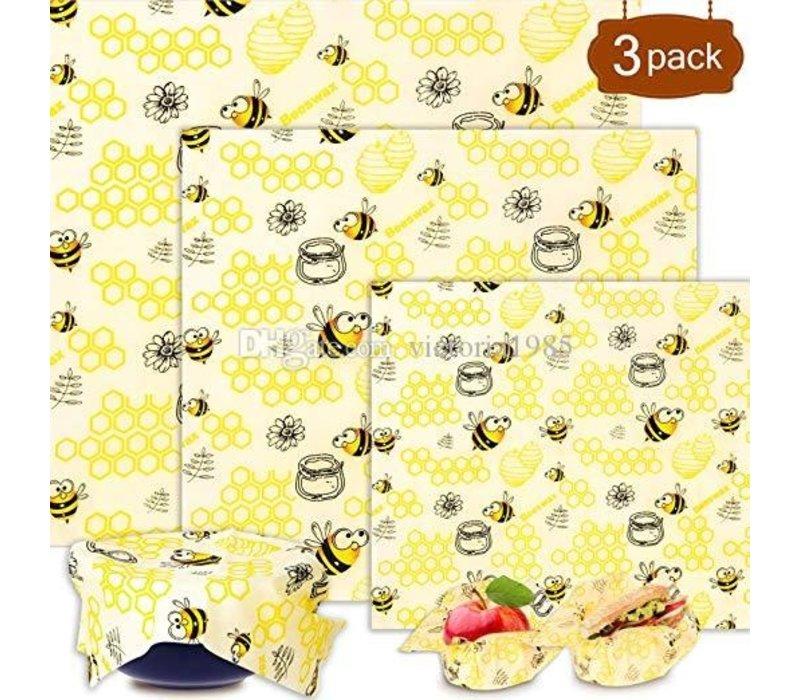 Beeswax Reusable Wrap 3pc