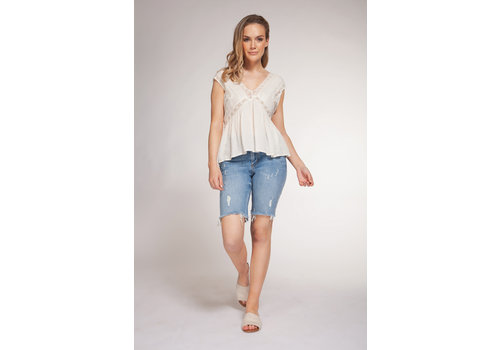 Dex Sleeveless Crochet Tape Top