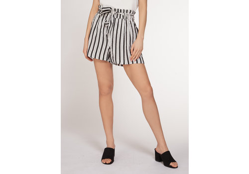 Dex Striped Self Tie Shorts