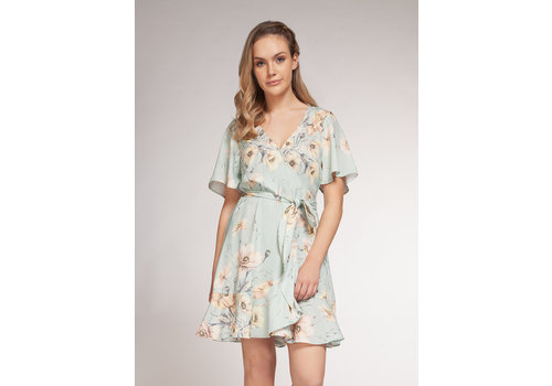 Dex Vintage Floral Wrap Dress