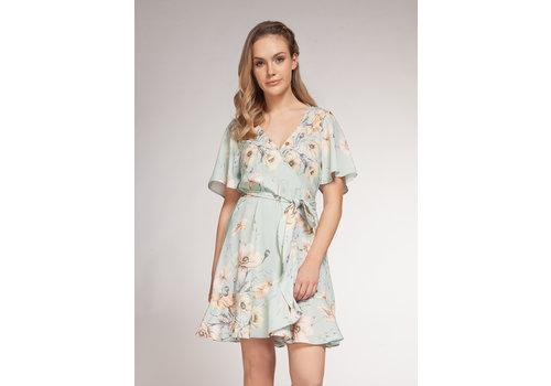 Dex Vintage Floral Wrap Dress