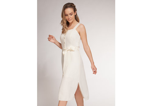 Dex Button Front Dress With Tie