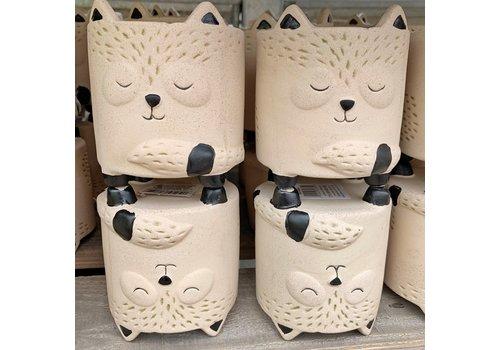"CTG Brands Bear Ceramic Planter 3.5""x3.5"""