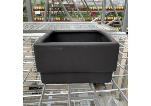 Black Square Ceramic Pot