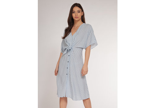 Dex Polka Dot Midi Dress