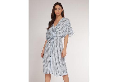Dex Polka Dot Midi Dress