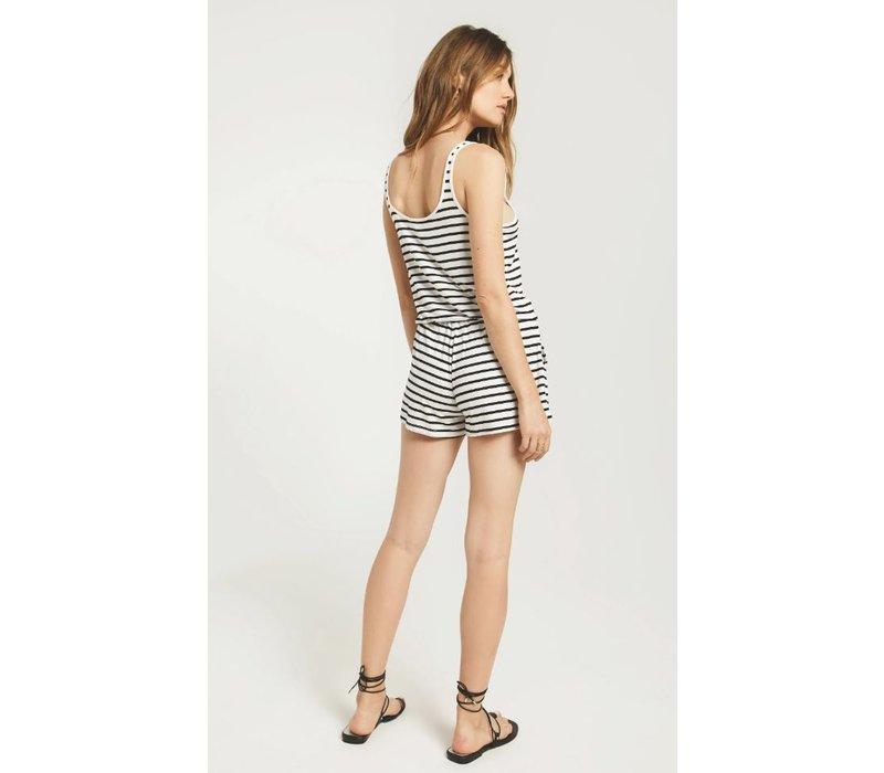 Azure Stripe Romper