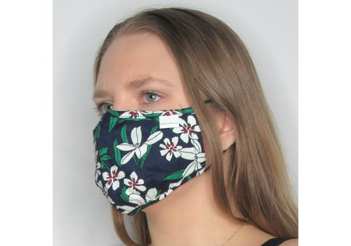 Papillon Floral Double Layer Cotton Face Mask