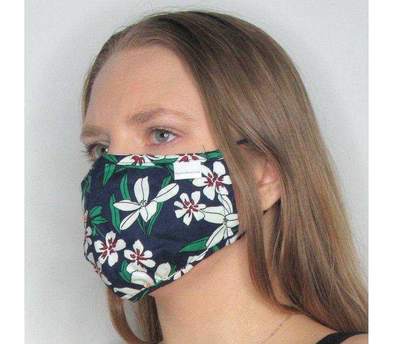 Floral Double Layer Cotton Face Mask