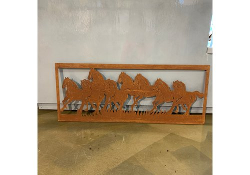 Kaemingk Horse Wall Decor Rust 100x40cm