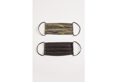 Z Supply Camo Face Mask 2 Pack Green and Black