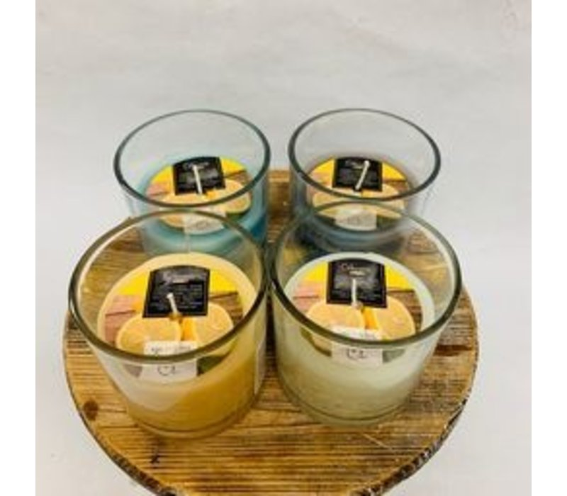 Citron Wax Candle In Glass