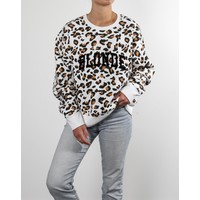 Blonde Step Sister Crew White Leopard