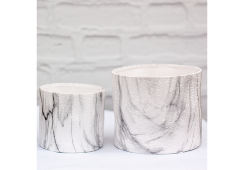 Tumbled Marble Finish Dolomite Container