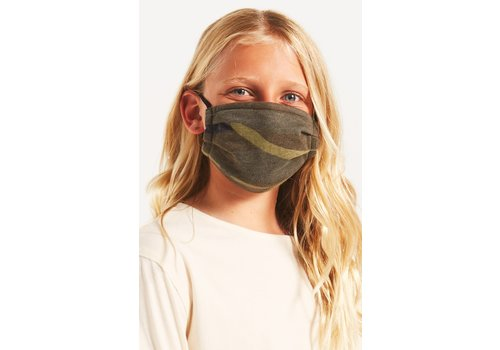 Z Supply Kids Camo Face Mask 2 Pack Green and Black