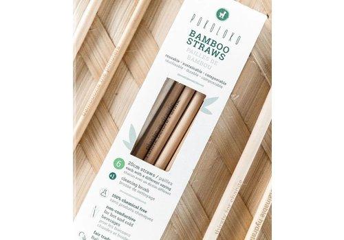 Pokoloko Bamboo Straws Pack of 6