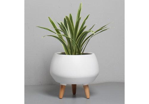 "Avery Ceramic Planter With Legs 10"""
