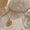 Pika & Bear Sheik Evil Eye Pendant Necklace Gold