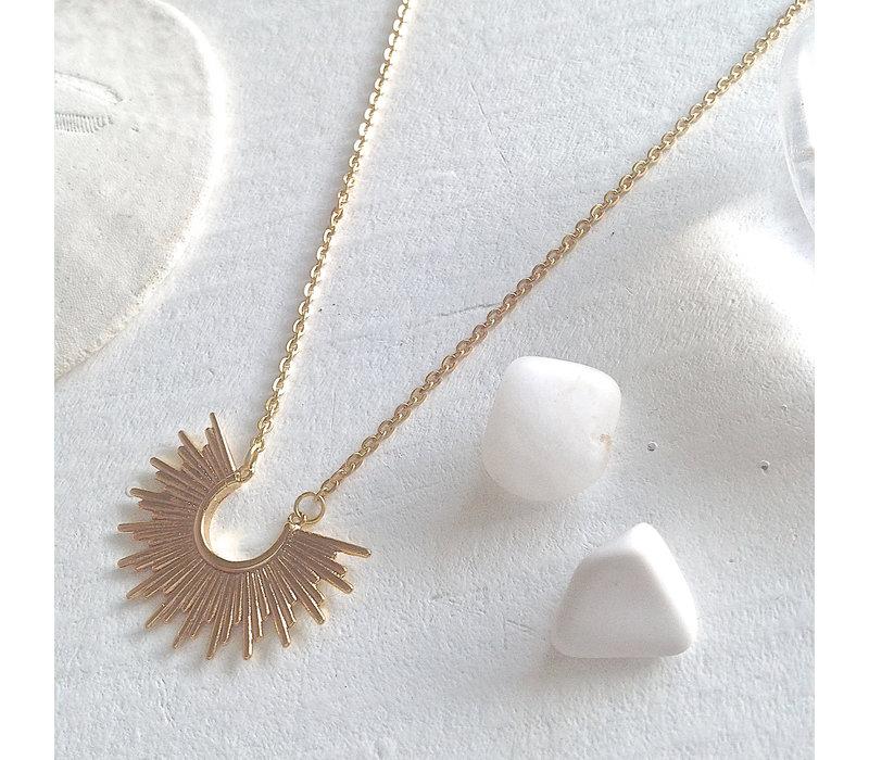 Cascade Sunburst Charm Necklace
