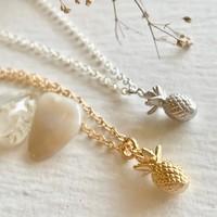 Aloha Tiny Pineapple Pendant Necklace
