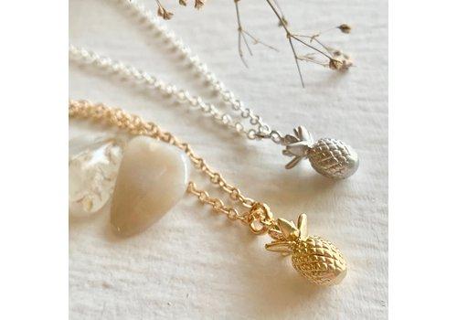 Pika & Bear Aloha Tiny Pineapple Pendant Necklace