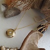Pika & Bear Antares Round Rhinestone Locket Necklace Gold
