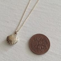 She Sells Sea Shells Gold Filled Sea Shell Charm Necklace