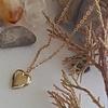 Pika & Bear Total Eclipse of the Heart Tiny Heart Shaped Locket Gold