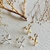 Pika & Bear Snips Scissor Stud Earrings Gold