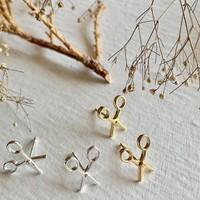 Snips Scissor Stud Earrings Gold