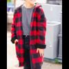 RD Style Brushed Buffalo Plaid Hooded Jacket
