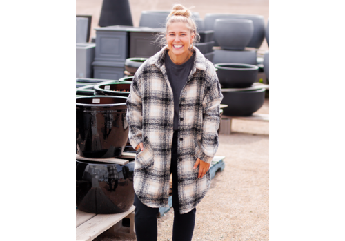 RD International Heavy Brushed Plaid Jacket