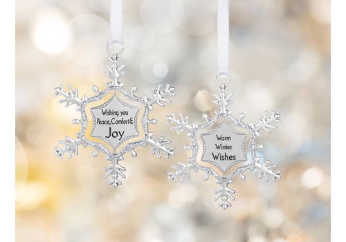 Ganz Swirling Snowflake Ornament