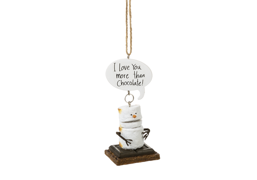 Ganz I Love You More Than Chocolate Toasted S'mores Ornament